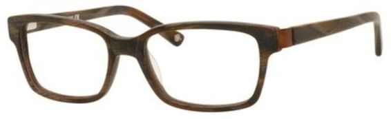 Germain Eyeglasses, Brown Horn