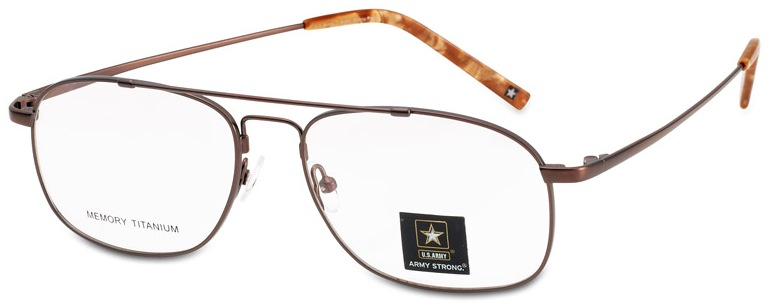 Army Strong 6 Eyeglasses, Brown