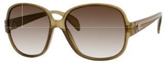 758/S Sunglasses, Green w/Grey Gradient Lenses