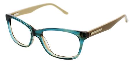 Amber Eyeglasses, Teal Horn