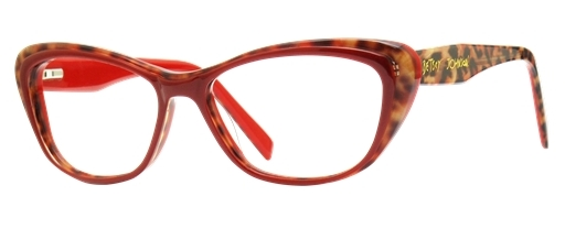 Betsey Johnson Cartwheel Eyeglasses, Red