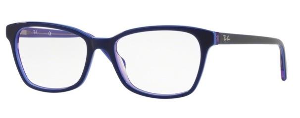 Image of RB 5362 Eyeglasses, Top Blue on Violet