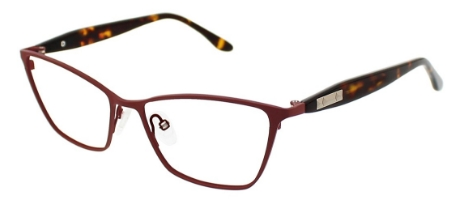 Rosette Eyeglasses, Red Crimson