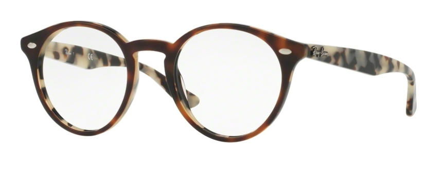 Image of RX 2180V Eyeglasses, Top Brown Havana On Avana Beige