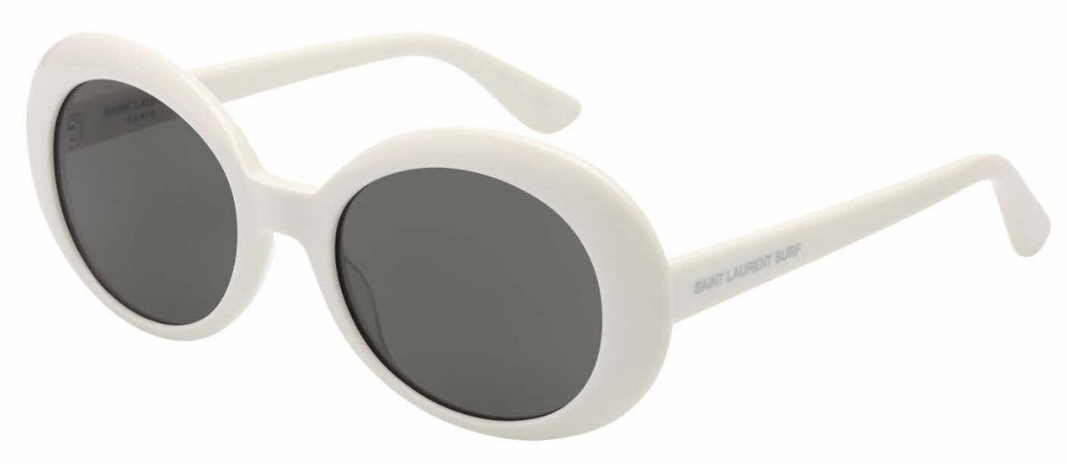 SL 98 Sunglasses, Shiny Ivory with Smoke Lenses