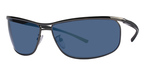 Police 8184 Gunmetal with Grey/Blue Flash Mirror Lenses