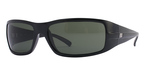 Ray Ban RB4057 Black with Crystal Green Lenses