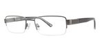 Jeff Banks Royal Oak Satin Gunmetal with Black/Crystal Temples