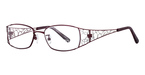Royce International Eyewear Charisma 50 BURGUNDY AND SILVER