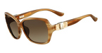 Salvatore Ferragamo SF657SL (260) Striped Honey