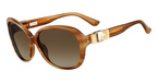 Salvatore Ferragamo SF658SL (260) Striped Honey