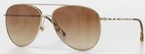 Burberry BE3072 Burberry Gold with Brown Gradient Lenses