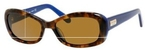 Kate Spade Blanca/P/S Havana Blue with Dark Brown Polarized Lenses