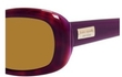 Kate Spade Blanca/P/S Havana Purple with Dark Brown Polarized Lenses