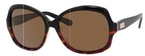Kate Spade Carlene/P/S Black Tortoise Fade with Dark Brown Polarized Lens