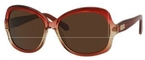 Kate Spade Carlene/P/S Fuchsia Beige with Dark Brown Polarized Lenses