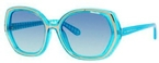 Kate Spade Dafina Aqua Gingham with Turquoise Gradient Lenses