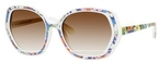 Kate Spade Dafina White Floral with Brown Gradient Lenses