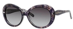 Kate Spade Doriane Black Watercolor with Gray Gradient Lenses