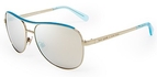 Kate Spade Dusty Gold with Turquoise Mirror Lenses