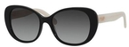 Kate Spade Emery Black/Ivory with Grey Gradient Lenses