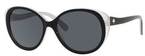 Kate Spade Finola Black Silver with Gray Polarized Lenses