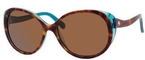 Kate Spade Finola Teal Havana with Dark Brown Polarized Lenses