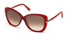 Tom Ford FT0324 Red with Gradient Brown Lenses