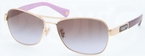 Coach HC7012 Gold/Purple with Brown Purple Gradient Lenses