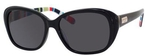 Kate Spade Hilde Black Striped with Gray Polarized Lenses