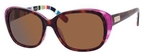 Kate Spade Hilde Tortoise Purple Striped with Dark Brown Polarized Lenses