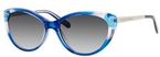 Kate Spade Livia Navy Turquoise Fade with Gray Gradient Lenses