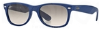 Ray Ban RB2132 New Wayfarer Light Blue Rubber w/ Crystal Grey Gradient Lenses