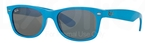 Ray Ban RB2132 New Wayfarer Shiny Azure w/ Green Mirror Silver Lenses