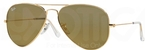 Ray Ban RB3025 Aviator Large Metal Gold w/ Crystal Gold Mirror Lenses