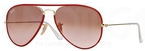 Ray Ban RB3025JM Arista Gold/Red with Pink Gradient Brown Photochromic Lenses