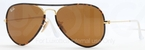 Ray Ban RB3025JM Arista Gold/Tortoise with Brown Lenses