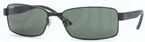 Ray Ban RB3272 Matte Black with Crystal Green Lenses