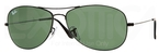 Ray Ban RB3362 Cockpit Black with Crystal Green Lenses
