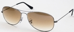 Ray Ban RB3362 Cockpit Gunmetal with Brown Gradient Glass Lenses
