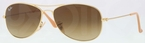Ray Ban RB3362 Cockpit Matte Gold with Brown Gradient Lenses