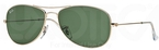 Ray Ban RB3362 Cockpit Arista Gold w/ Crystal Green Lenses  001