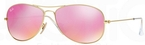 Ray Ban RB3362 Cockpit Matte Gold w/ Cyclamen Mirror Lenses  112/4T
