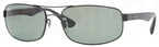 Ray Ban RB3445 Black with Polarized Crystal Green Lenses