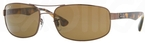 Ray Ban RB3445 Brown with Polarized Crystal Brown Lenses