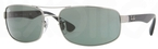 Ray Ban RB3445 Gunmetal with Crystal Green Lenses