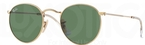 Ray Ban RB3447 Round Metal Arista w/ Crystal Green Lenses