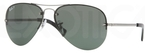 Ray Ban RB3449 Gunmetal with Polarized Green Lenses