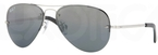 Ray Ban RB3449 Silver with Polarized Grey/Silver Mirror Gradient Lenses