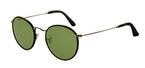 Ray Ban RB3475Q Matte Gunmetal/Black Leather with Crystal Green Lenses